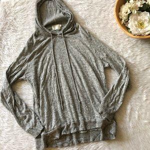 Saturday Sunday Grey Hooded Long Sleeve